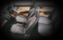 Hyundai Eon Ergonomically designed seats