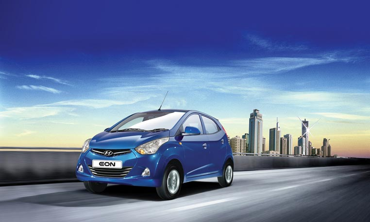 Hyundai Eon Blue Car Picture- Shreenath Hyundai