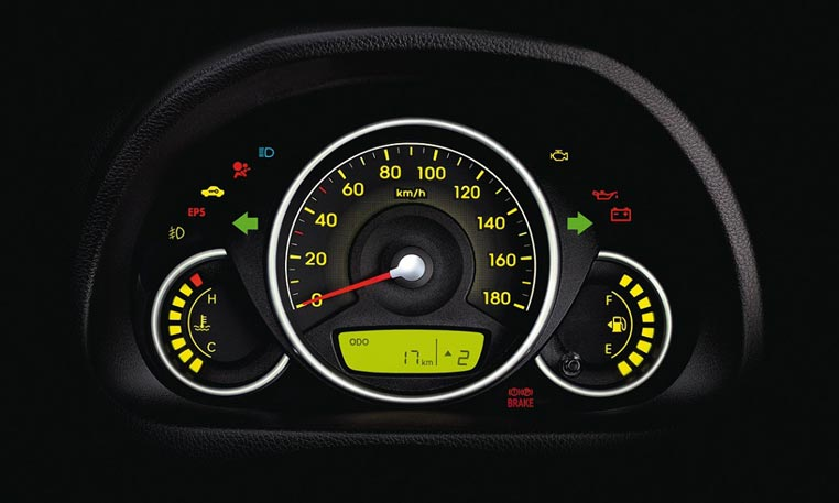 Hyundai Eon Car Interior Features - Instrument Cluster