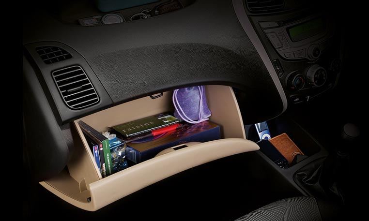 Hyundai Eon Car Interior Features - Glovebox