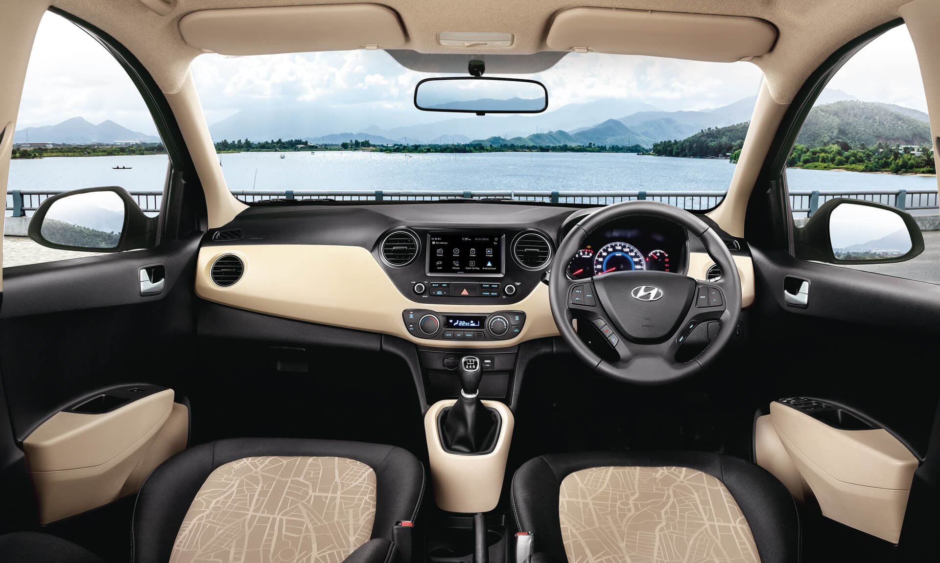 Hyundai Grand i10 Interior Features - Seats (Aerial View)