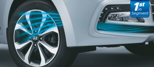 Hyundai Xcent Front Air curtain to be written as Wheel Air Curtain